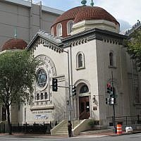 Sixth & I, a nondenominational synagogue, in Washington, DC. (Courtesy of Sixth & I /via JTA)