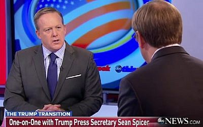 Incoming White House Press Secretary Sean Spicer questions Obama's Russia sanctions on January 1, 2017 on ABC's 'This Week.' (screenshot)