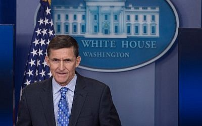 US National Security Adviser Mike Flynn speaks during the daily press briefing at the White House in Washington, DC, on February 1, 2017. (AFP Photo/Nicholas Kamm)