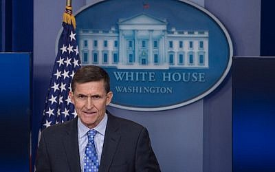US National Security Adviser Mike Flynn speaks during the daily press briefing at the White House in Washington, DC, on February 1, 2017. (AFP PHOTO / NICHOLAS KAMM)