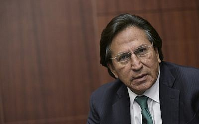 Former Peruvian President (2001-2006) Alejandro Toledo speaking during a discussion on Venezuela and the OAS at The Center for Strategic andInternational Studies (CSIS) in Washington, DC,  June 17, 2016. (AFP/Mandel Ngan)