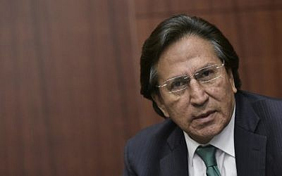 Former Peruvian President (2001-2006) Alejandro Toledo speaking during a discussion on Venezuela and the OAS at The Center for Strategic and International Studies (CSIS) in Washington, DC, June 17, 2016. (AFP PHOTO / Mandel Ngan)
