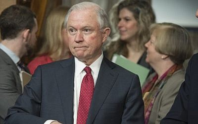 This file photo taken on February 2, 2017 shows US Senator Jeff Sessions, Republican of Alabama and nominee for US Attorney General,as he  attends a Senate Environment and Public Works Committee hearing on Capitol Hill in Washington, DC. (AFP/ SAUL LOEB)