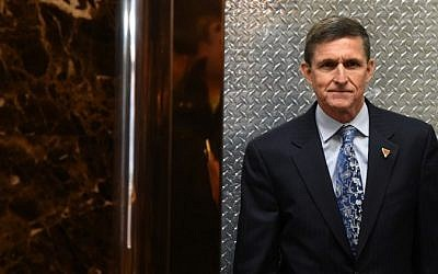 This file photo taken on January 4, 2017 shows Michael Flynn, then National Security Advisor designate, arriving at Trump Tower for meetings with US President-elect Donald Trump in New York. (AFP/Timothy A. Clary)