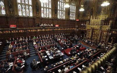 A general view of the House of Lords chamber in session at the Houses of Parliament in London, September 5, 2016. (AFP/POOL/Kirsty Wigglesworth)