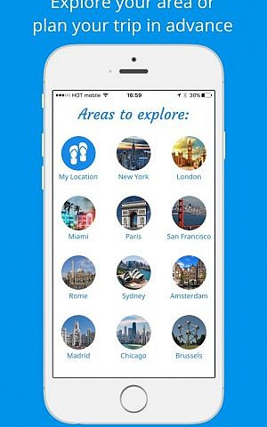 Pedestrian navigational app Sidekix is available in hundreds of cities worldwide (Courtesy Sidekix)
