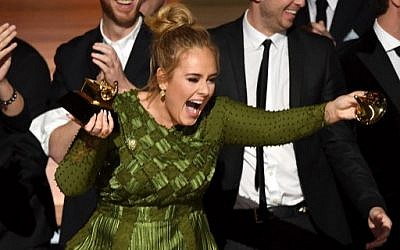 Recording artist Adele accepts the Album Of The Year award for '25' onstage during The 59th Grammy Awards at the Staples Center on February 12, 2017 in Los Angeles, California. (Kevin Winter/Getty Images for NARAS/AFP)