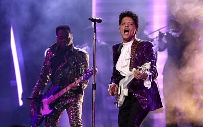 Musician Bruno Mars during The 59th Grammy Awards at the Staples Center on February 12, 2017, in Los Angeles, California. (Christopher Polk/Getty Images for NARAS/AFP)