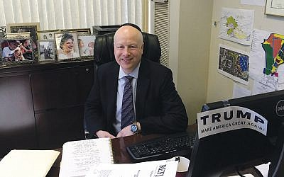 Jason Greenblatt, President Donald Trump's special representative for international negotiations. File photo. (Uriel Heilman/JTA)