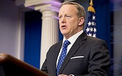 White House press secretary Sean Spicer talks to the media during the daily press briefing at the White House, Tuesday, Feb. 21, 2017, in Washington. (AP Photo/Andrew Harnik)