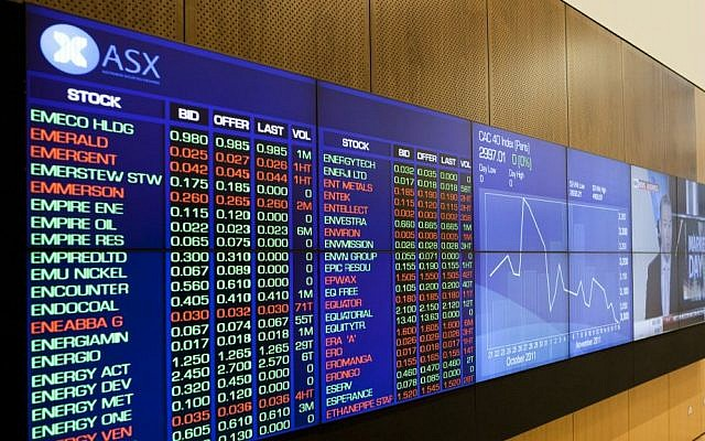 Screens at the Australian Securities Exchange (Courtesy)
