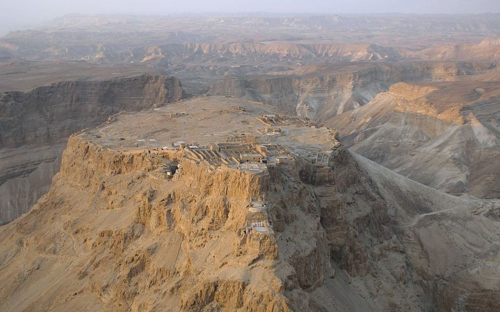 Aerial view of Masada (Andrew Shiva/Wikipedia/CC BY-SA)