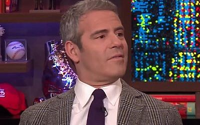 Andy Cohen interviews a guest on a February 20, 2017, episode of 'Watch What Happens Live with Andy Cohen' (screen capture: YouTube)