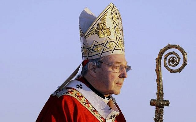 Cardinal George Pell walks onto the stage for the opening mass for World Youth Day in Sydney, Australia, July 15, 2008. (AP/Rick Rycroft)