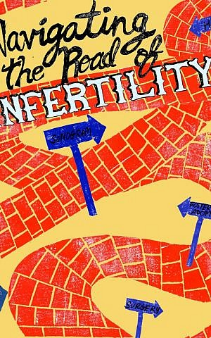Cover jacket of 'Navigating the Road of Infertility' by Chrissie and Aaron Kahan. (Courtesy)