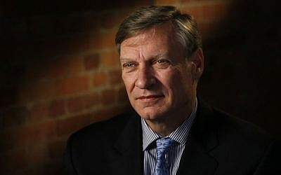 US businessman Ted Malloch, Donald Trump's potential choice as envoy to the EU, speaks to The Associated Press during an interview in London, Thursday, Feb. 9, 2017. (AP/Frank Augstein)