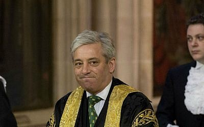 A Wednesday, June 4, 2014 file photo of Britain's Speaker of the House of Commons John Bercow. (AP Photo/Matt Dunham, Pool, File)