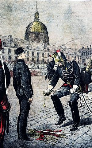 'The Traitor: The Degradation of Alfred Dreyfus,' by Henri Meyer, portraying the stripping of the soldier's rank. (Wikimedia commons/public domain)