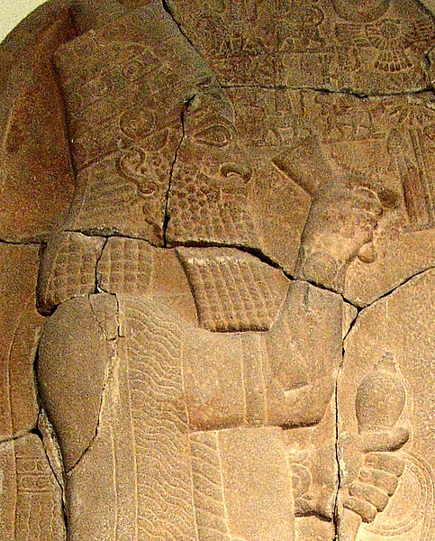 Esarhaddon, king of Assyria. Portrait on stone stele. After 671 BC. Pergamonmuseum, Berlin (Public domain, Maur, Wikimedia commons)