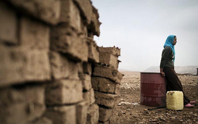 Illustrative photo of Bedouins living near Jericho (Matanya Tausig/Flash90)