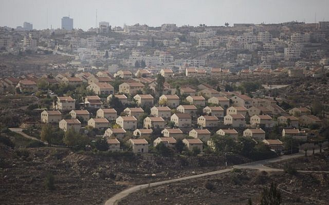 A view of houses in the Israeli settlement of Ofra in the central West Bank on November 17, 2016. (Lior Mizrahi/Flash90)