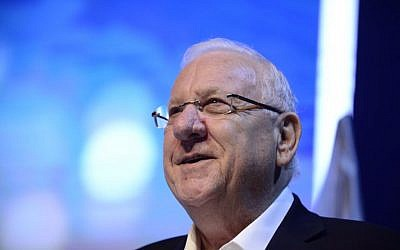 President Reuven Rivlin speaks at the Annual International Conference of the Institute for National Security Studies in Tel Aviv,  January 23, 2017. (Tomer Neuberg/FLASH90)