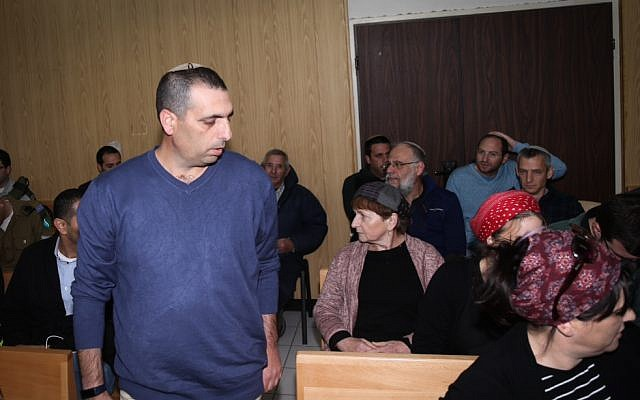 Ofek Buchris arrives at military court on February 2, 2017.  (Flash90)