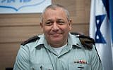 IDF Chief of Staff Gadi Eisenkot attends a Defense and Foreign Affairs Committee meeting at the Knesset, on February 22, 2017. (Yonatan Sindel/Flash90)