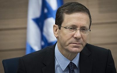 Opposition Leader Isaac Herzog attends a Knesset Defense and Foreign Affairs Committee meeting at the Knesset, on February 22, 2017. (Yonatan Sindel/Flash90)