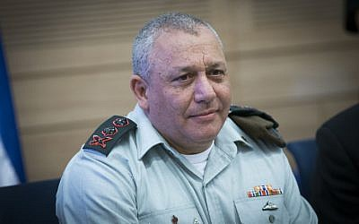 IDF Chief of Staff Gadi Eisenkot attends a Foreign Affairs and Defense Committee meeting at the Knesset on February 22, 2017. (Yonatan Sindel/Flash90 )