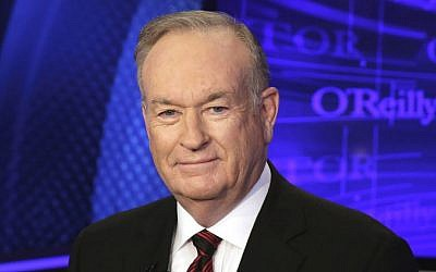"Bill O'Reilly of the Fox News Channel program ""The O'Reilly Factor,"" poses for photos in New York on October 1, 2015. (AP Photo/Richard Drew, File)"
