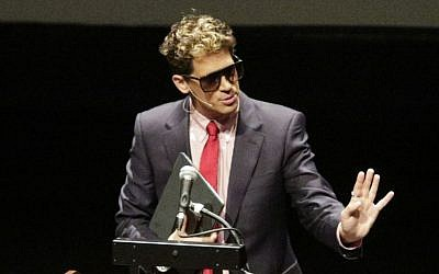 "Milo Yiannopoulos speaks at the California Polytechnic State University as part of his ""The Dangerous Faggot Tour"" of college campuses, Jan. 31, 2017, in San Luis Obispo, California. (David Middlecamp/The Tribune (of San Luis Obispo) via AP)"