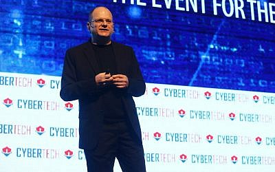 Check Point Software's founder Gil Shwed speaking at CyberTech 2017. (Courtesy, Gilad Kavalerchik)