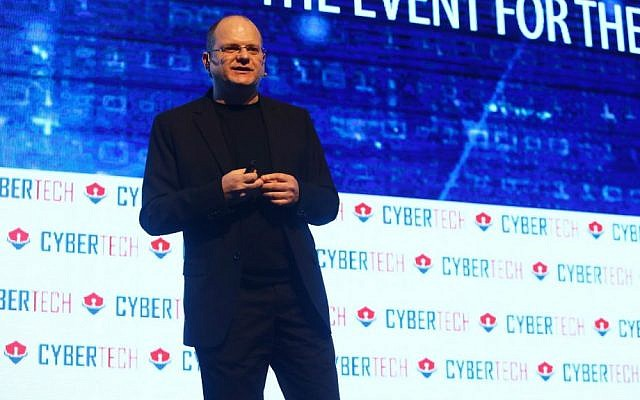 Check Point Software's founder Gil Shwed speaking at CyberTech 2017 (Courtesy: Gilad Kavalerchik)