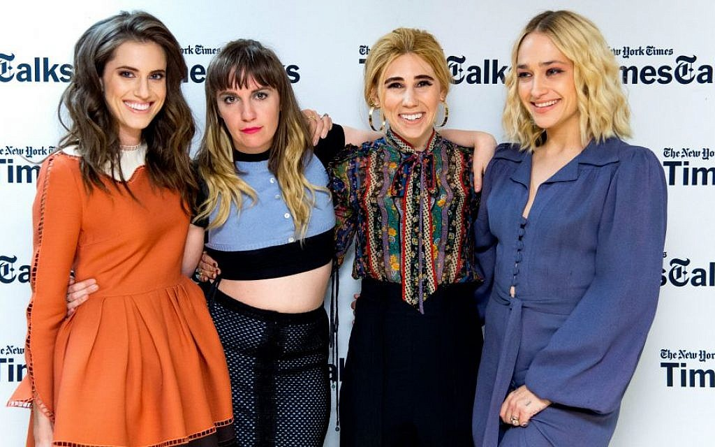 The main cast of 'Girls' at a New York Times TimesTalks event. From left to right: Allison Williams, Lena Dunham, Zosia Mamet and Jemima Kirke. (Roy Rochlin/FilmMagic via Getty Images)