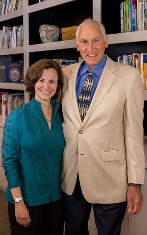 Winnie Grinspoon, president of the Harold Grinspoon Foundation, with founder Harold Grinspoon. (Courtesy)