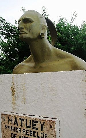 Hatuey monument in Baracoa, Cuba (Michal Zalewsk via Wikimedia Commons)