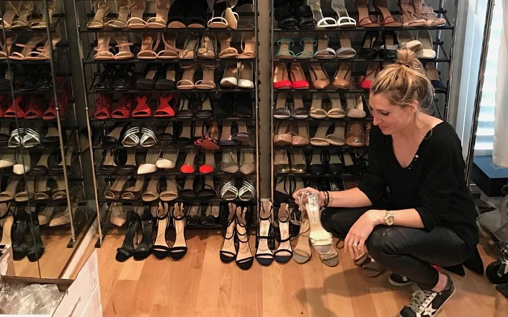 Stylist Adena Rohatiner has amassed a collection of over 150 pairs of shoes for her clients' use. (Courtesy)