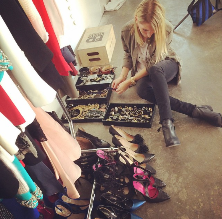 Adena Rohatiner goes over accessories for a client. (Courtesy)