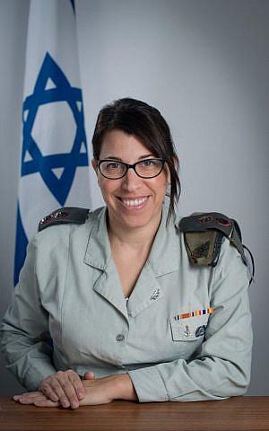 IDF's Lt. Col. Nurit Cohen Inger (Courtesy IDF)
