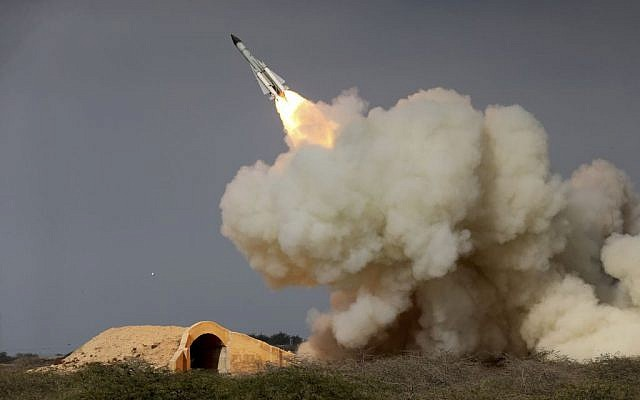 In this Dec. 29, 2016 file photo, released by the semi-official Iranian Students News Agency (ISNA), a long-range S-200 missile is fired in a military drill in the port city of Bushehr, on the northern coast of Persian Gulf, Iran. (Amir Kholousi, ISNA via AP, File)