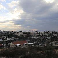 A general view of the West Bank settlement of Beit El near Ramallah, February 16, 2017.  (AP Photo/Tsafrir Abayov)