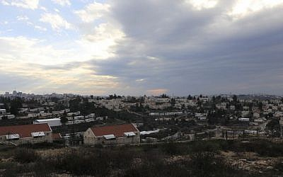 A general view of the West Bank settlement of Beit El near Ramallah, February 16, 2017.  (AP Photo/Tsafrir Abayov)