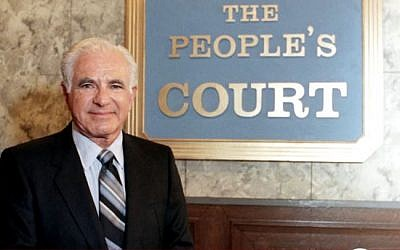 Joe Wapner pictured outside the set of 'The People's Court.' (Screen capture/YouTube)