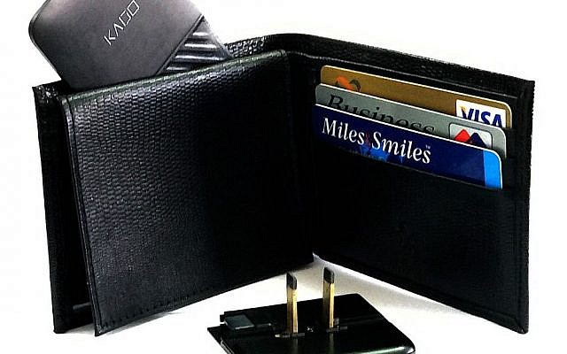 The Kado Wallet charger is the thickness of three credit cards (Courtesy)