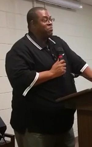 Daryle Lamont Jenkins, founder of 'One People's Project' speaking in 2017 (Screen capture: YouTube)