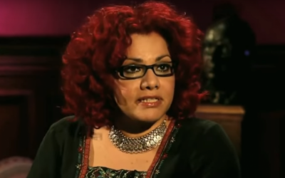 Egyptian-American journalist Mona Eltahawy addresses an Al-Jazeera program on May 16, 2016.