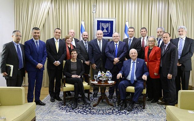 President Rivlin hosts Israeli diplomats stationed in North America, February 28, 2017 (Mark Neiman/GPO)