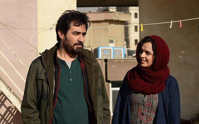 """This image released by Cohen Media group shows Shahab Hosseini, left, and Taraneh Alidoosti in a scene from """"The Salesman."""" The film is nominated for an Oscar for best foreign language film. (Cohen Media Group via AP)"""