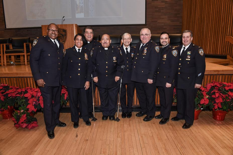 Rabbi Alvin Kass with other NYPD chaplains. (Courtesy Lt. Steven A. Jerome)